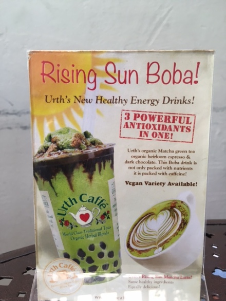 Advertisement for Rising Sun Boba